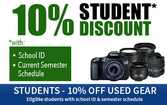 Used Gear Student Discount