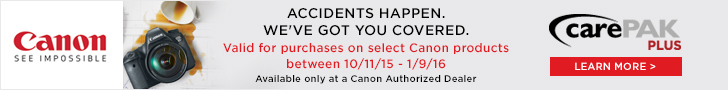 Canon CarePak Plus eligible products