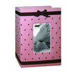 Pioneer Baby Embroidered Frame Fabric Photo Album (100 4x6 photos) - Pink